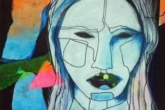 vrouw-blauw-blok